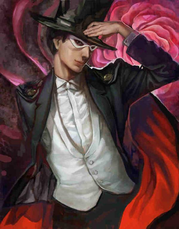 The only male in Sailor Moon that isn't a villain or a bystander. In this realistic art by k-BOSE, Tuxedo Mask is given a touch of realism and at the same time a playful pose that simply fits his personality.
