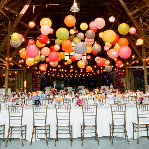 Summer Birthday Party For Girls_Paper Lanterns & Paper Flowers