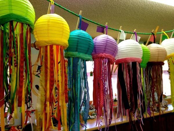 Summer Birthday Party For Girls_DIY Jellyfish Lanterns