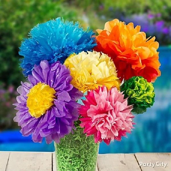 Summer Birthday Party For Girls_DIY Paper Flower Bouquet
