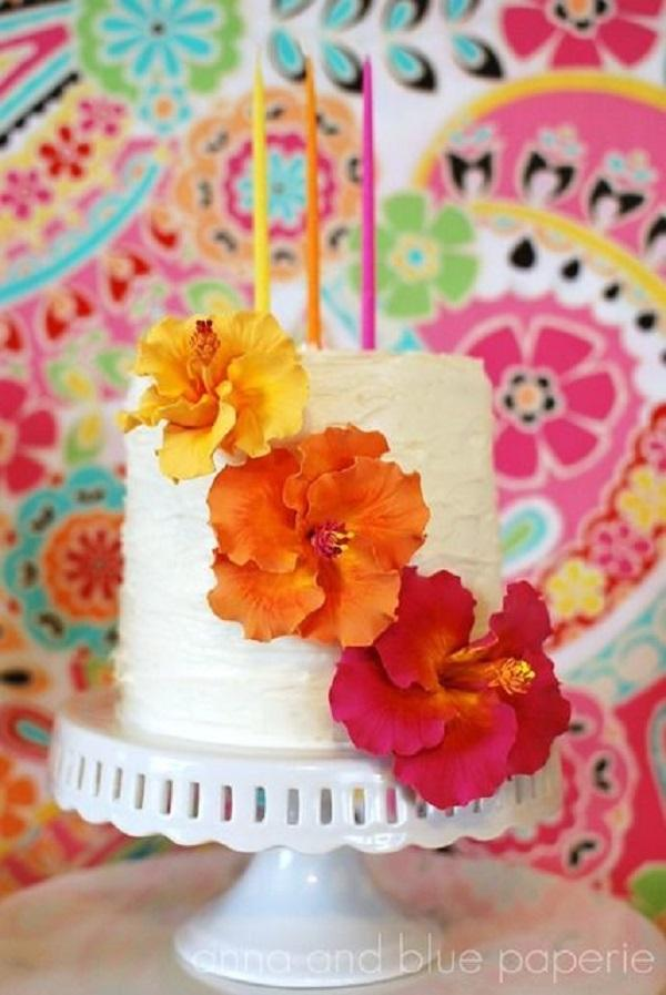 Summer Birthday Party For Girls_Floral Cake