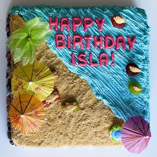 Summer Birthday Party For Girls_Beach Cake