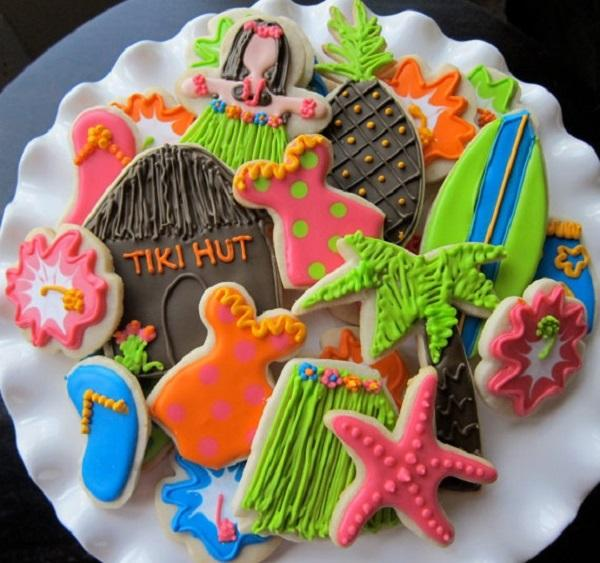 Summer Birthday Party For Girls_Aloha Cookies