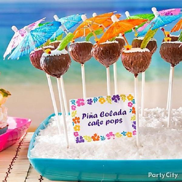 Summer Birthday Party For Girls_Pina Colada Cake Pops