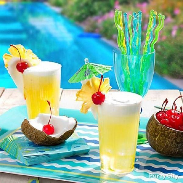 Summer Birthday Party For Girls_DIY Pina Coladas