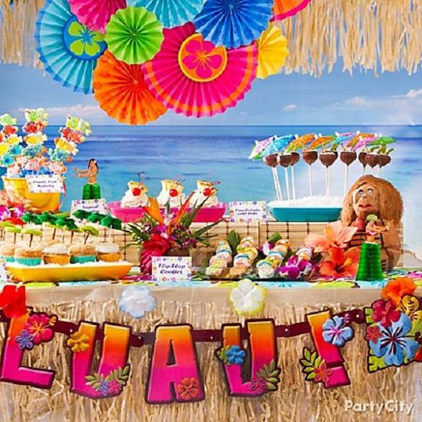 Summer Birthday Party For Girls_Luau Party Package