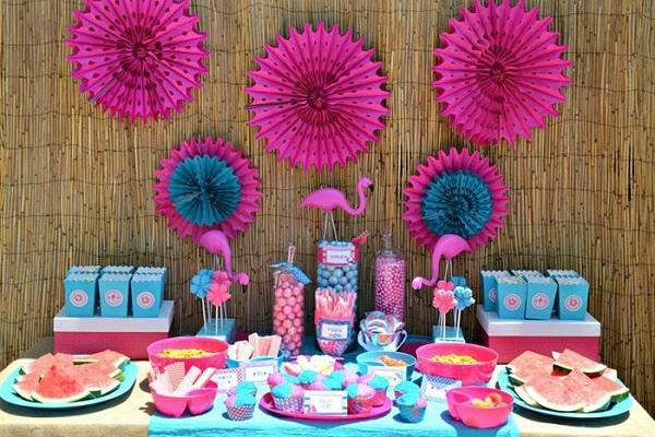 Summer Birthday Party For Girls_Tropical Party With Pink Flamingo Twist