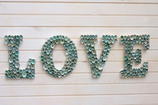 beach decor seashell covered sign letters love or any 4 lettered word 35