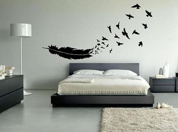 Stunning Birds of a Feather Wall Decal or Car Decal Beautiful Wall Decals Ideas