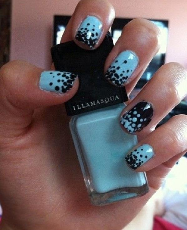 30 adorable polka dots nail designs art and design black and blue polka dots nail art 30 adorable polka dots nail designs prinsesfo Gallery