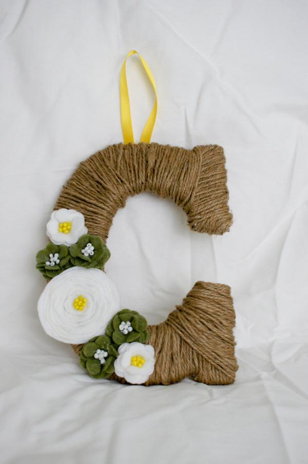 Custom Twine Monogram Wreath