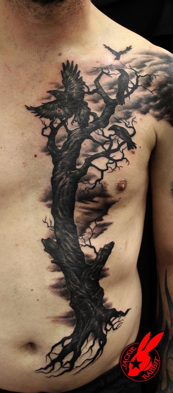 Evil Ravens Tree Tattoo by Jackie Rabbit-37