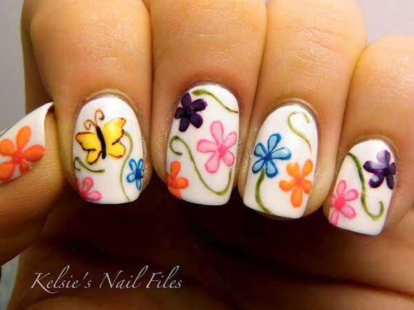 Flower Nail Designs Perfect For Spring and Summer Time-8