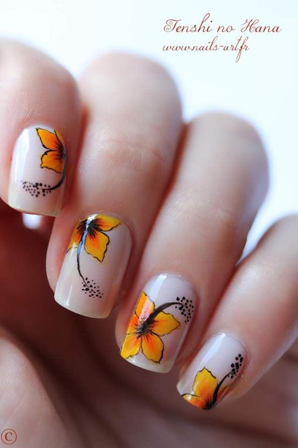 Flower nail art for smmer-30