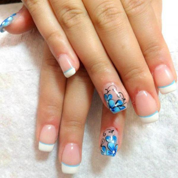 French manicure summer nail -4