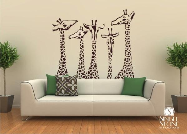 Fancy Giraffe Wall Decals Pin It