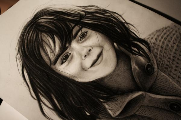 GIRL Graphite drawing.