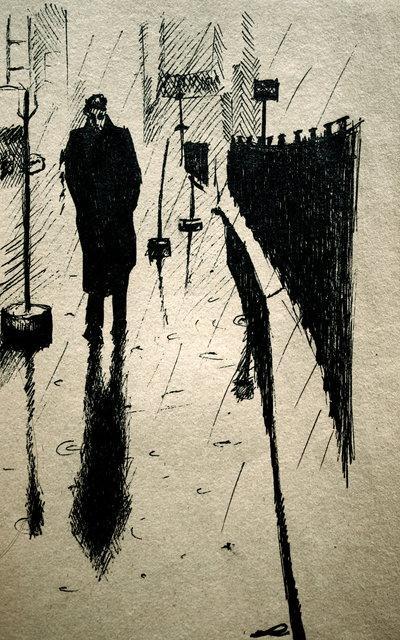 JAMES DEAN An inked artwork.