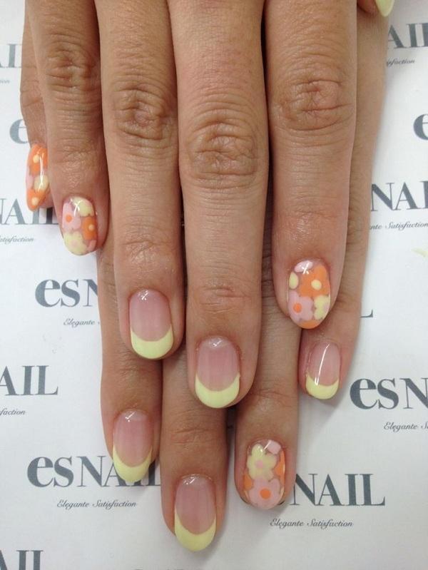Japanese retro flower nail art
