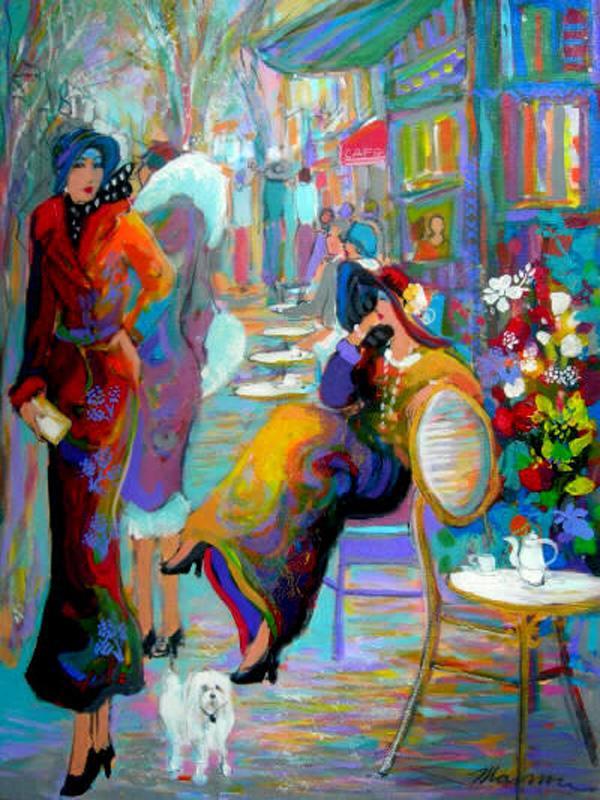 LE CHIEN BLANC DE GIGI by Isaac Maimon