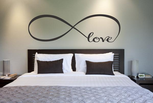 Awesome Love infinity symbol bedroom wall decal Beautiful Wall Decals Ideas