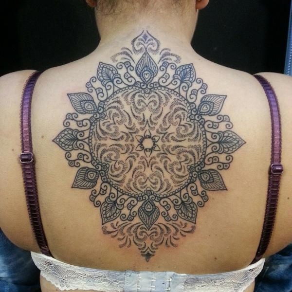 Mandala Back Tattoo-12