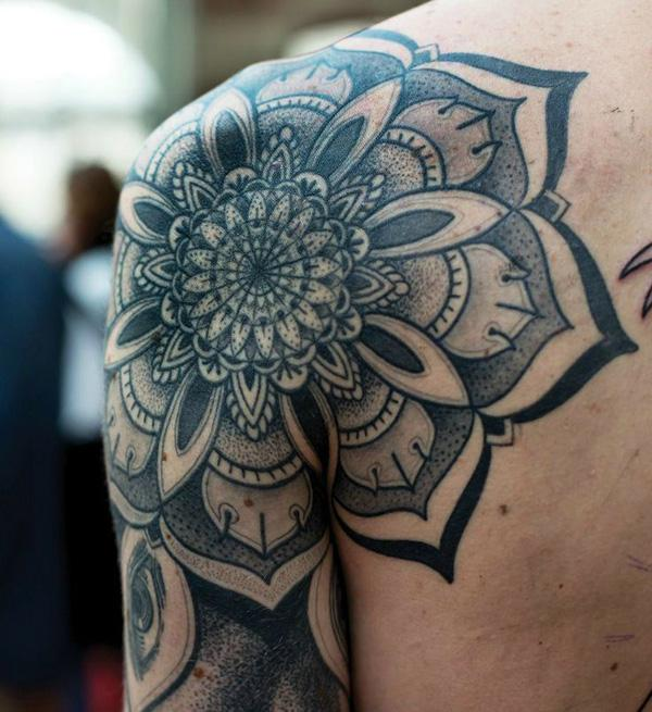 Mandala Shoulder Tattoo-19