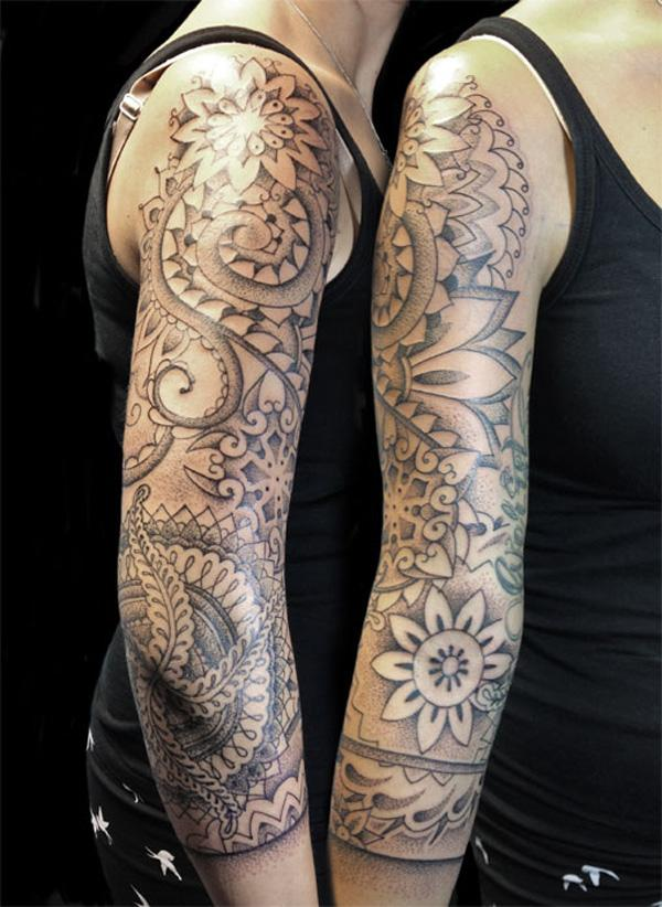 Mandala Sleeve Tattoo-1