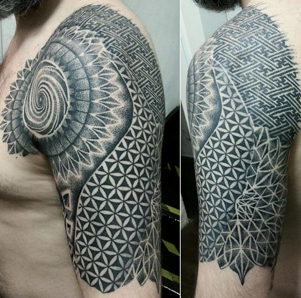 Mandala Tattoo for Man-32