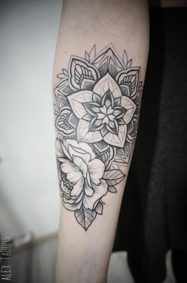 Mandala and Flower Tattoo-22