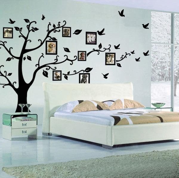 Elegant Memory Tree Photo Tree Wall Vinly Decal Decor Sticker Removable Wall Decal for Living Room