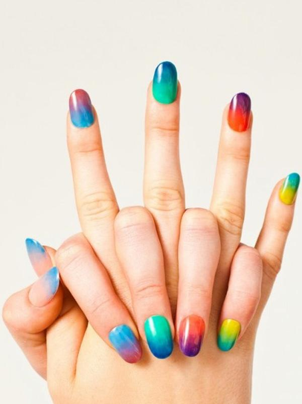 Rainbow nail for summer-6