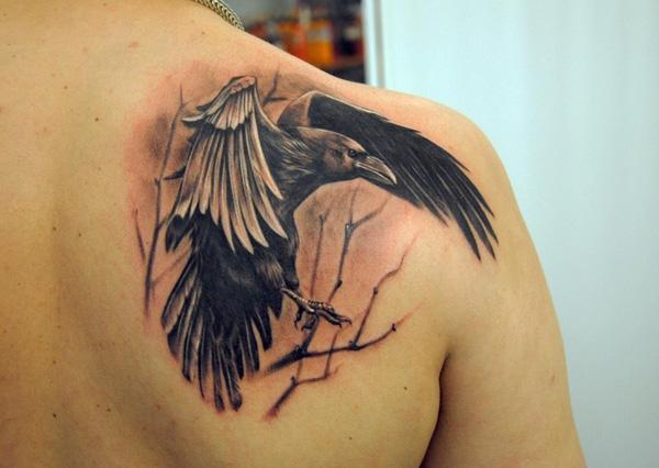 Raven Back Tattoo-44