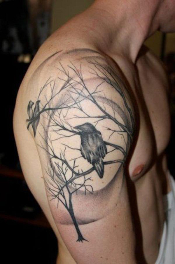 Raven Quarter Tattoo