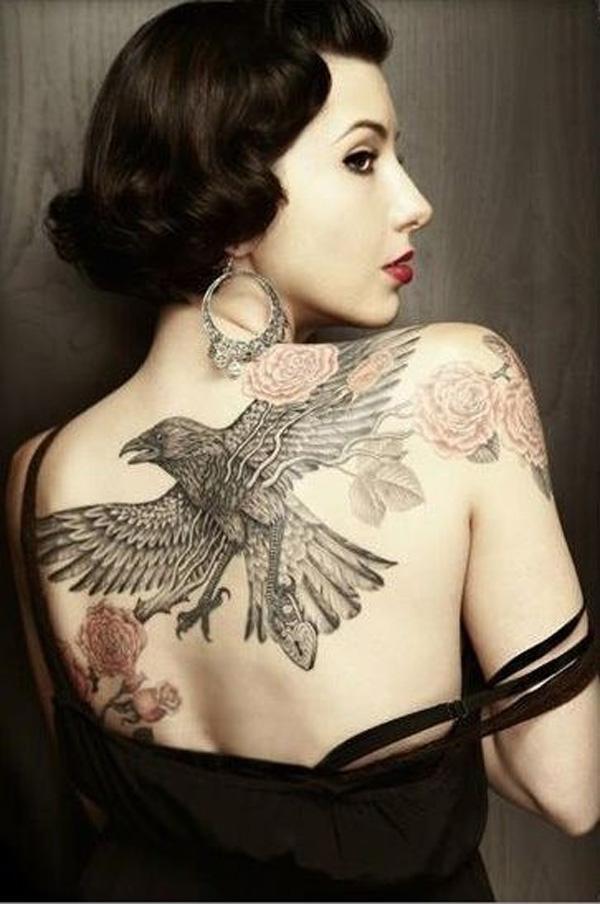 Raven Tattoo on Back-20