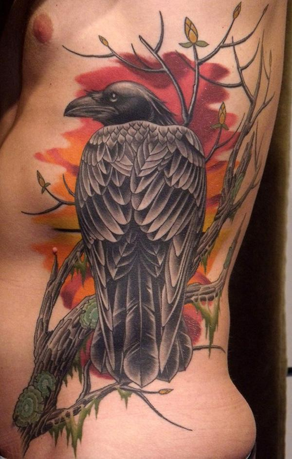 Raven Tattoo on side-22