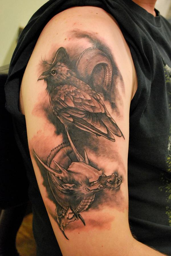 Raven and Dragon Tattoo-15