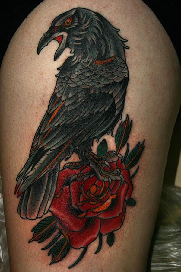 Raven and Rose Tattoo-54