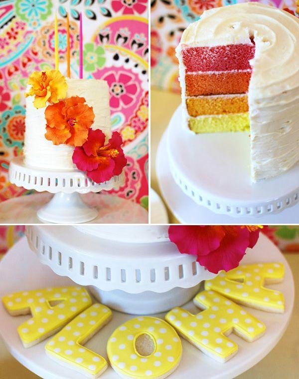 Summer Birthday Party For Girls_Aloha Cake