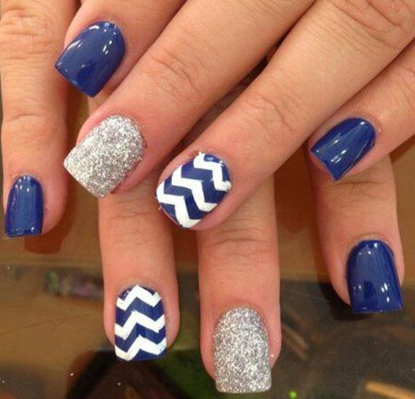 If you were looking for a blue version of the nail design above; ... - 65 Lovely Summer Nail Art Ideas Art And Design