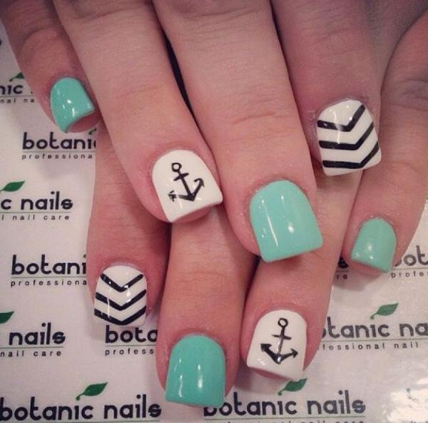 65 lovely summer nail art ideas art and design another win for the short square nails this is a cute and quirky nail art prinsesfo Images