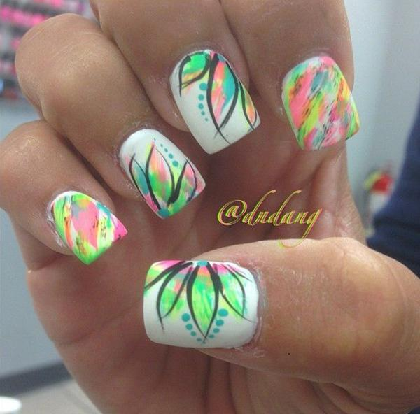65 lovely summer nail art ideas art and design this creative nail art design gives you an idea that prinsesfo Gallery