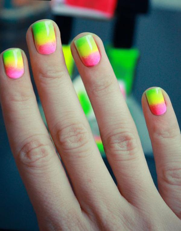 65 lovely summer nail art ideas art and design a very cute and refreshing nail art using bright neon colors play around with pink prinsesfo Gallery