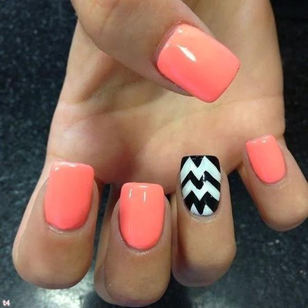 be crazy and funky with this bright colored nail art design the nails are colored