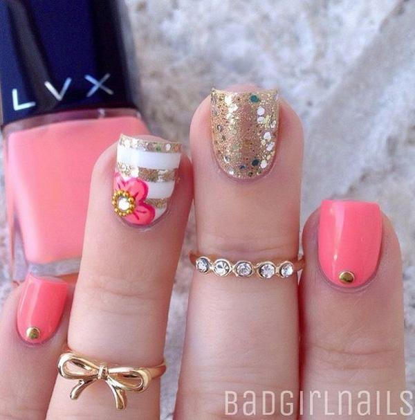 65 lovely summer nail art ideas art and design summer nail art 65 lovely summer nail art ideas prinsesfo Gallery