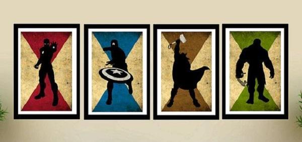 Superhero Logo Silhouette Frames