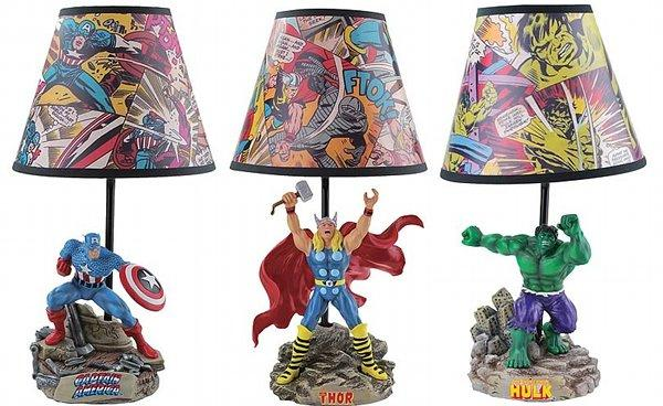 Superhero Novelty Lamps