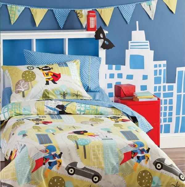 Stunning Simple Superhero Theme Room If you think that the superheros from Marvel and DC are