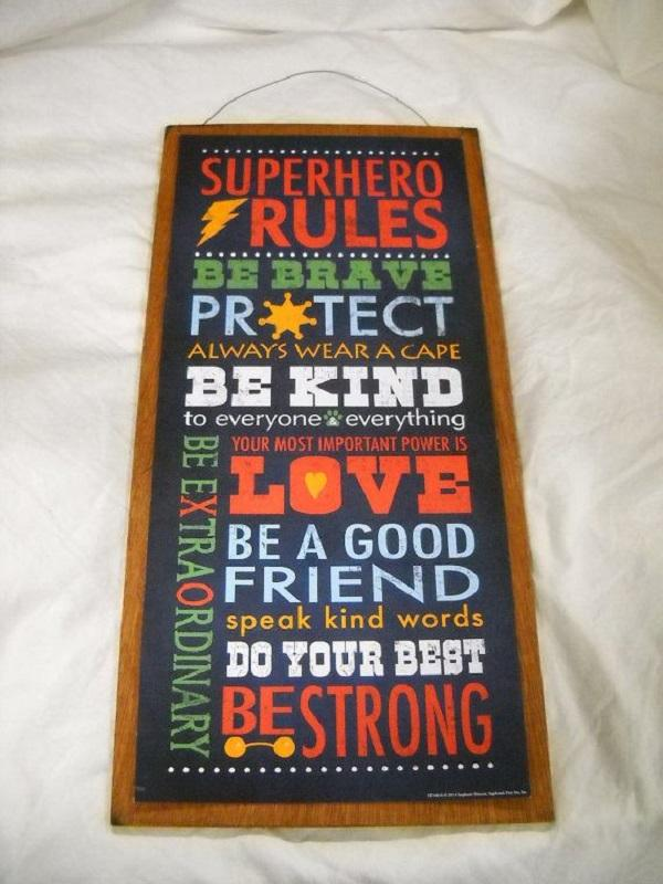 Superhero Framed Quotes