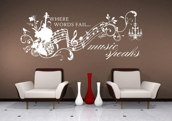 Best Vinyl Lettering Text Wall Words Stickers Art Beautiful Wall Decals Ideas